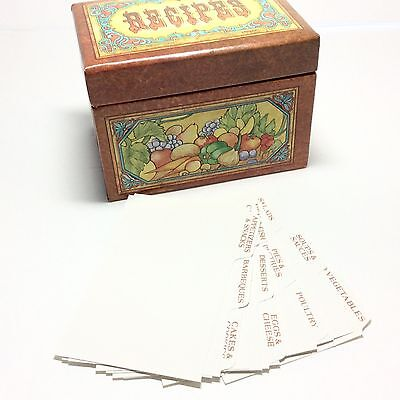 Vintage CURRENT Recipe Box w/Dividers from 1979