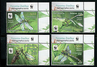 Belarus 2010 SC 737-740 WWF Insects Dragonflies CV $5