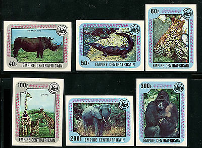 Central African Republic 1978 SC 323-328 IMPERF NOT SCOTT LISTED WWF Elephant