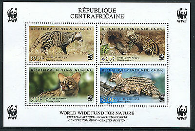 Central African Repulblic 2007 SC 1512-1515 SS WWF Cats CV $30