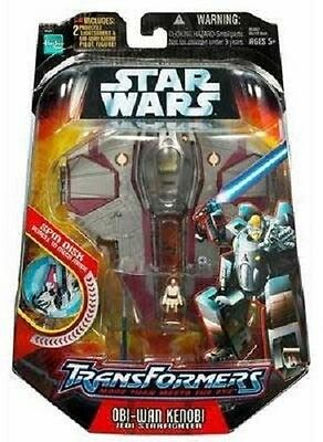 STAR WARS SW Transformers OBI WAN JEDI figure  NEW   Series 1