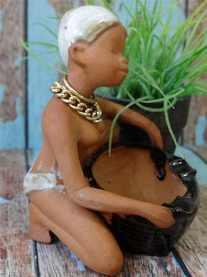 Retro FUNKY - Vintage Nude Lady  Planter - Pottery - Candle
