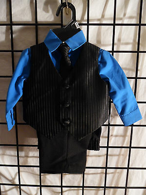 4Pc. Toddler Boys Suit Size 3/6 Month