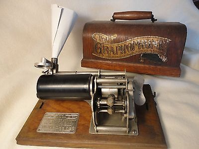 The Graphophone Type B 1886 Antique American Graphophone Co 115069 W/cylinder