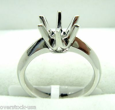 FINE Solid Platinum 900 Engagement Ring Setting / Mounting