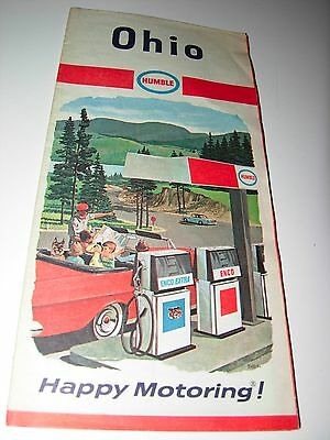 Humble Oil & Refining Company - Ohio Map - 1967 Happy Motoring Guide