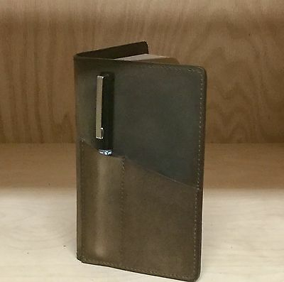 Rusty Moose Field Notes Oil Tan Leather Journal Cover With Front Pen Pouch