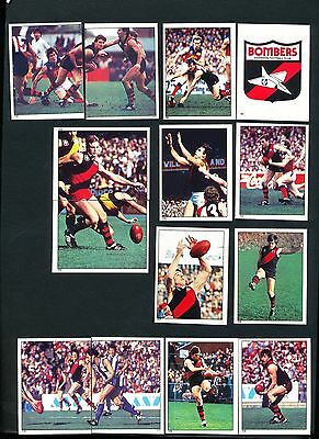 1984 Scanlens Essendon Sticker Team Set 14 stickers MINT out of  packet