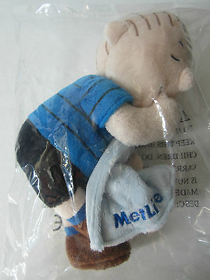 Metlife Linus Plush Stuffed Doll With Blanket From Peanuts New Factory Sealed