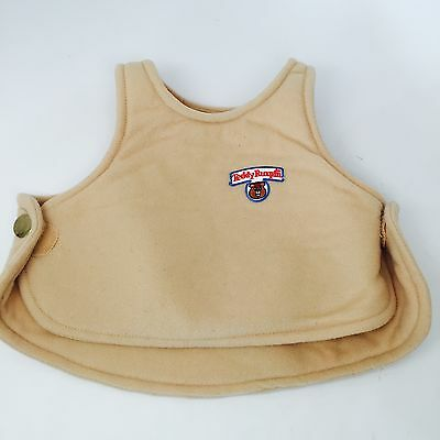 Vintage 1985 Original Teddy Ruxpin Tan Vest with logo Outfit Clothing