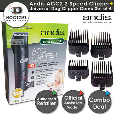 Andis AGC2 2 Speed Dog CLIPPERS #10 Blade & Comb Set uses Oster Wahl KM2 blades