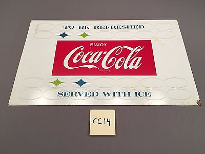 1959 Vintage To Be Refreshed Serve w Ice Enjoy Coca Cola Coke Metal sign CC14