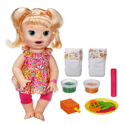 Baby Alive Super Snacks Snackin' Sara Blonde  **** New  and sealed ******