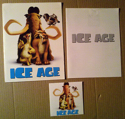 Press Kit~ ICE AGE ~2002 ~Ray Romano ~Denis Leary ~Jack Black ~Cartoon