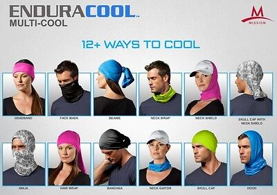 Mission Enduracool Instant Cooling Fabrics Headwear 12 Ways to Wear Cool
