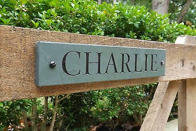 Engraved Slate Stable Horse Name Plaque/sign