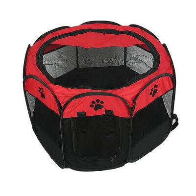 Portable Folded Pet Dog Cat Play Pen Tent Exercise Fence Kennel Cage Crate Tool