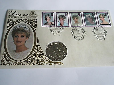 Diana Princess of wales stamp and coin set