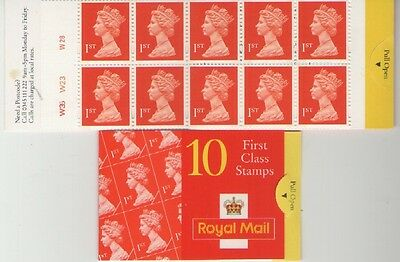 10 X 1st CLASS WALSALL UB104  BARCODE BOOKLET OF ROYAL MAIL MINT STAMPS