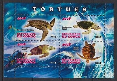 Bloc feuillet neuf ** MNH - Congo 2013 - Tortues marines Sea Turtles