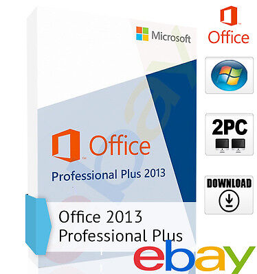 Microsoft Office 2013 Professional Plus für 2 PC Deutsch