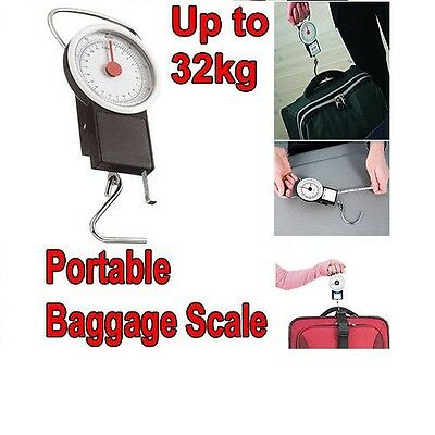 Luggage Scale 32kg Bag Weight Baggage Suitcase Travel Measure Portable Hook