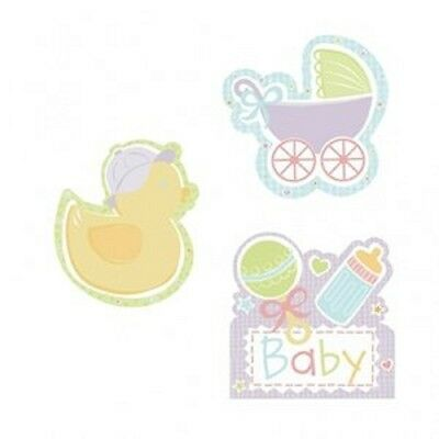 Tiny Bundle Unisex Baby Shower Cutouts Decorations - Pack of 3