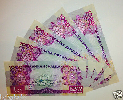 5 x Uncirculated BANKNOTES_SOMALILAND_Consecutive Serial Numbers