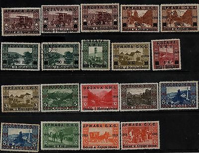 1918 YUGOSLAVIA(1910 stamps of bosnia optd)(F.USED & LMM) S.G.1-16