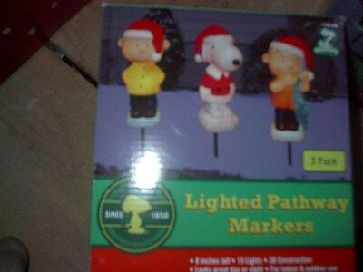 Peanuts  Xmas Pathway Markers  New In Box