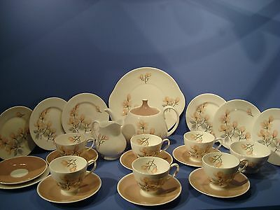 Royal Adderley 'ophelia' 22 Piece Teaset Includes Teapot, Plus Spares