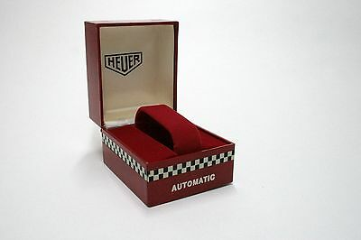 Rare Vintage Red Heuer Racing Box For All Automatic Heuer - Monaco - Silverstone