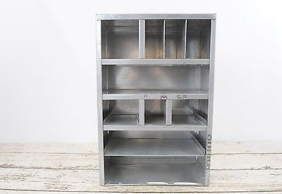 Vintage Parts Cabinet Tin Sheet Metal Parts Cabinet Industrial Storage