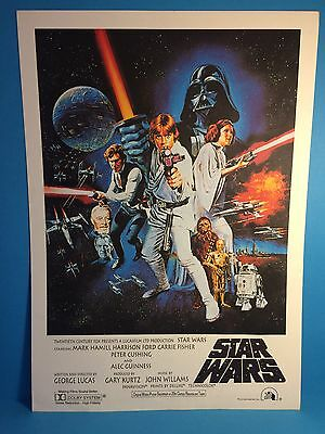 1977 Star Wars A New Hope Print Proof Prototype Poster Unique Unrecorded Variant