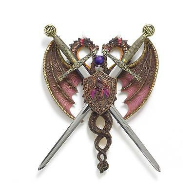 Gothic Game Medievil Decor Sword & Dragon Coat of Arms Thrones Knight Legends