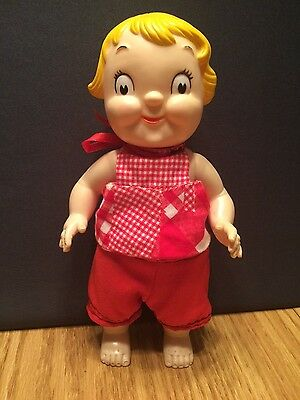 """Vintage Campbell's Soup 10"""" Rubber Girl Squeeze Doll"""