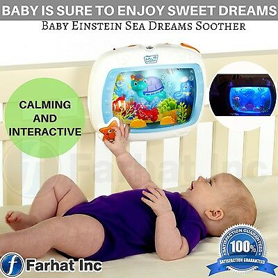 Baby Einstein Sea Dreams Soother Night Crib Bed Light Sound Infant Sleep Toy New