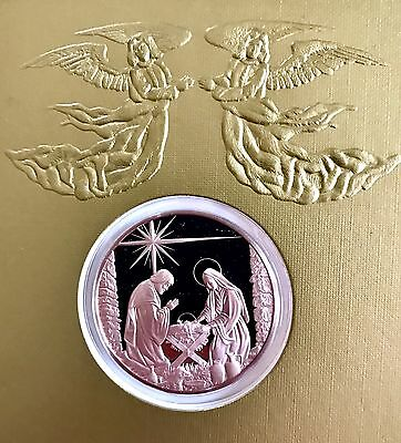New 1978 Franklin Mint GLORY TO GOD Medal Coin Christmas Greeting Card