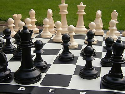 Giant Large Jumbo Outdoor Garden Chess Set Traditional Game Party Fun Quality