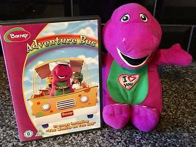 Barney Purple Dinosaur SINGING I LOVE YOU SONG Soft Toy And Adventure Bus DVD