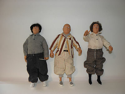 Collectors Three Stooges Dolls Mo-Larry-Curly