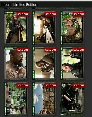 Topps Walking Dead Episode 702 The Well Complete GREEN Set *Digital Cards*