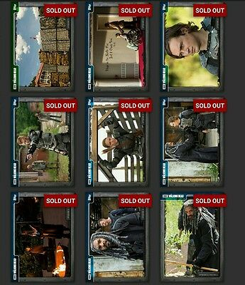 Topps Walking Dead Episode 702 The Well Complete BLUE Set *Digital Cards*