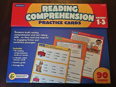 LAKESHORE READING COMPREHENSION PRACTICE CARDS, Grades 1-3, Ages 5+, # TT467