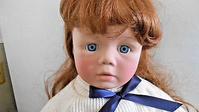 """1985 J. Secrist Zook Kids Vinyl & Cloth Doll -25""""- Hand Signed -Complete Outfit"""