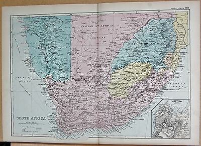 1890 Large Victorian Map - South Africa, Environs Of Cape Town