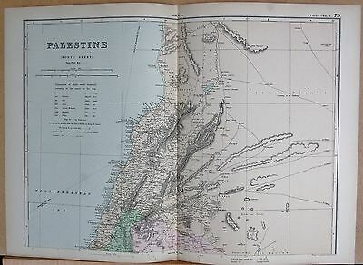 1890 Large Victorian Map - Palestine North
