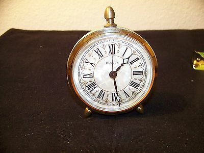 Vintage Bulova Wind Up Alarm Clock Made In Germany - Works