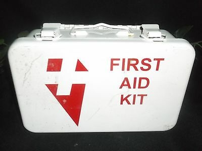 Cross First Aid Case Bandage box Tin Travel kit Wall Hanging mancave workplace