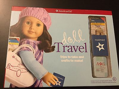 American Girl DOLL TRAVEL Book and Paper play set New